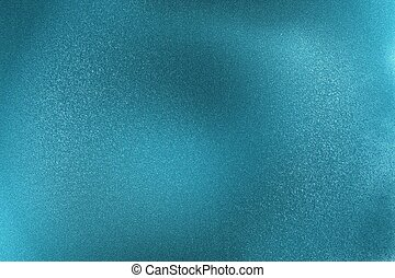 Glowing brushed blue metallic wall surface, abstract texture background