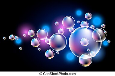 Glowing bubbles - Glowing background with bubbles