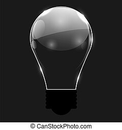 Glowing Bulb, Vector Illustration