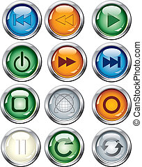 glowing button set