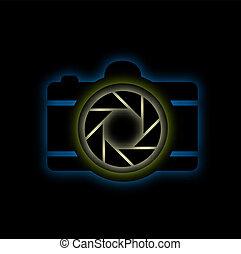 glowing, câmera