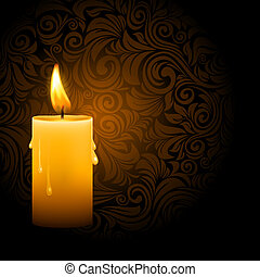 Glowing candle