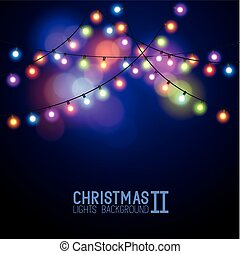 Glowing Christmas Lights. Vector illustration