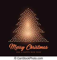 Glowing Christmas tree background