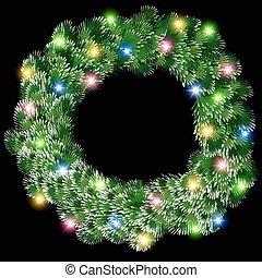 glowing Christmas wreath