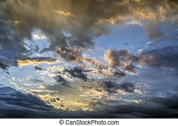 Glowing Cloudy Sky