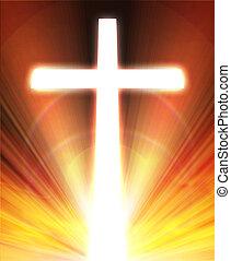 glowing cross