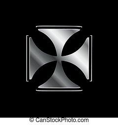Glowing Cross Pattee symbol (Christianity)
