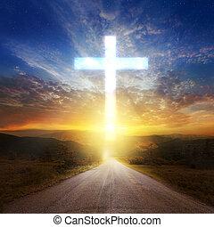 glowing, crucifixos