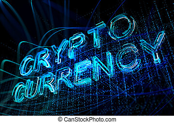 Glowing cryptocurrency background - Creative glowing...