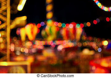 Glowing decorations on the street,
