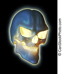 Glowing Demon Skull
