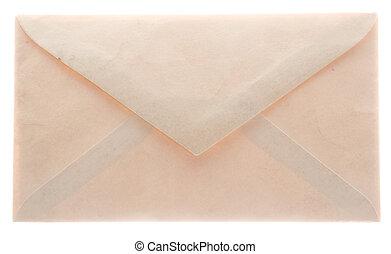 Glowing envelope from the back - Vintage glowing envelope...