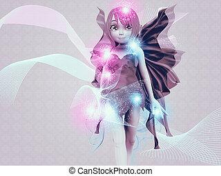 Glowing fairy