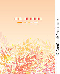 Glowing fall plants vertical card background