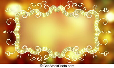 Glowing fancy banner loopable animation - Glowing fancy...
