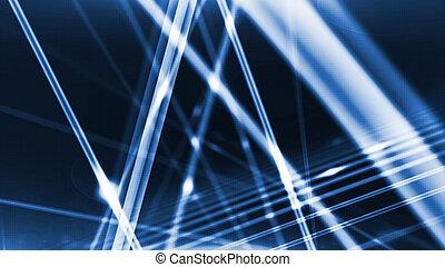 Glowing Fiber Optic Channels