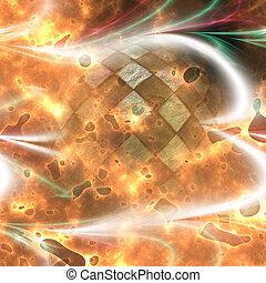 Glowing fiery background