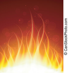 Glowing fire background
