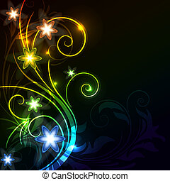 glowing floral background