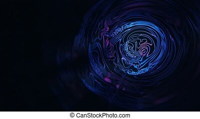 Glowing flowery circle burst motion graphics background seamless loop. Trendy colors makes for hip stylish fashion music videos.