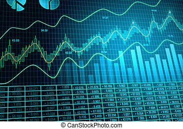 Glowing forex background