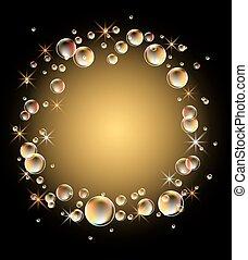 glowing, fundo, bolhas