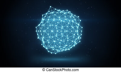 glowing futuristic network shape