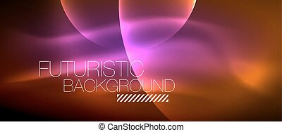 Glowing glass circles