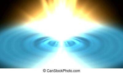 glowing golden heaven light