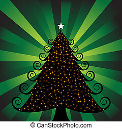 Glowing Green Christmas Tree
