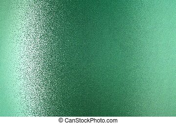Glowing green metallic wall, abstract texture background