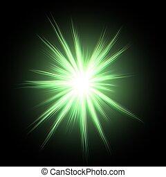 Glowing green star