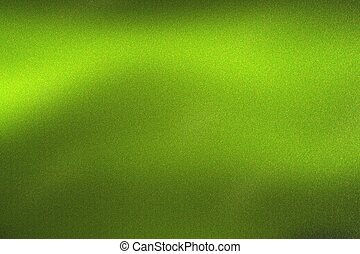 Glowing green wave metal wall, abstract texture background