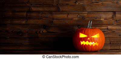 Glowing Halloween pumpkin
