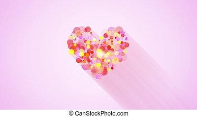 glowing heart shape loopable animat