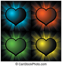 glowing hearts