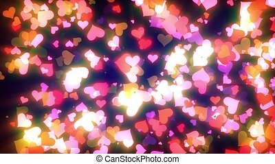 Glowing Hearts Particles Loop