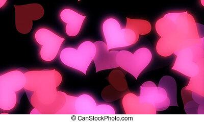 Glowing Hearts Vj Loop