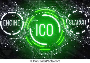 Glowing ICO background - Creative glowing ICO background. ...