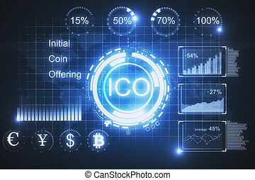 Glowing ICO background