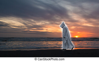 Glowing Jesus Sunset