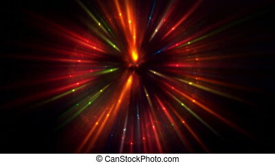 Glowing Light Ball - Abstract light ball glows colorful on...