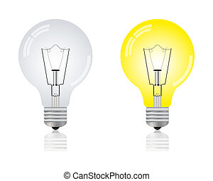 Glowing light bulb and repaid