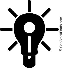 Glowing light bulb icon simple