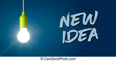 Glowing light bulb - New idea