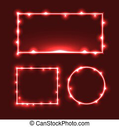 Glowing Light Christmas Frame