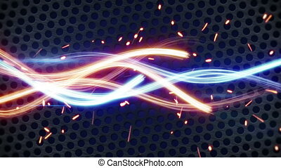glowing light painting streaks loopable background