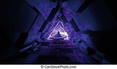 Glowing 4k uhd 60fps blinking light science fiction space tunnel light effect 3d illustration vfx vj loop