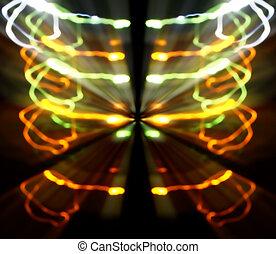 Glowing Light Streaks